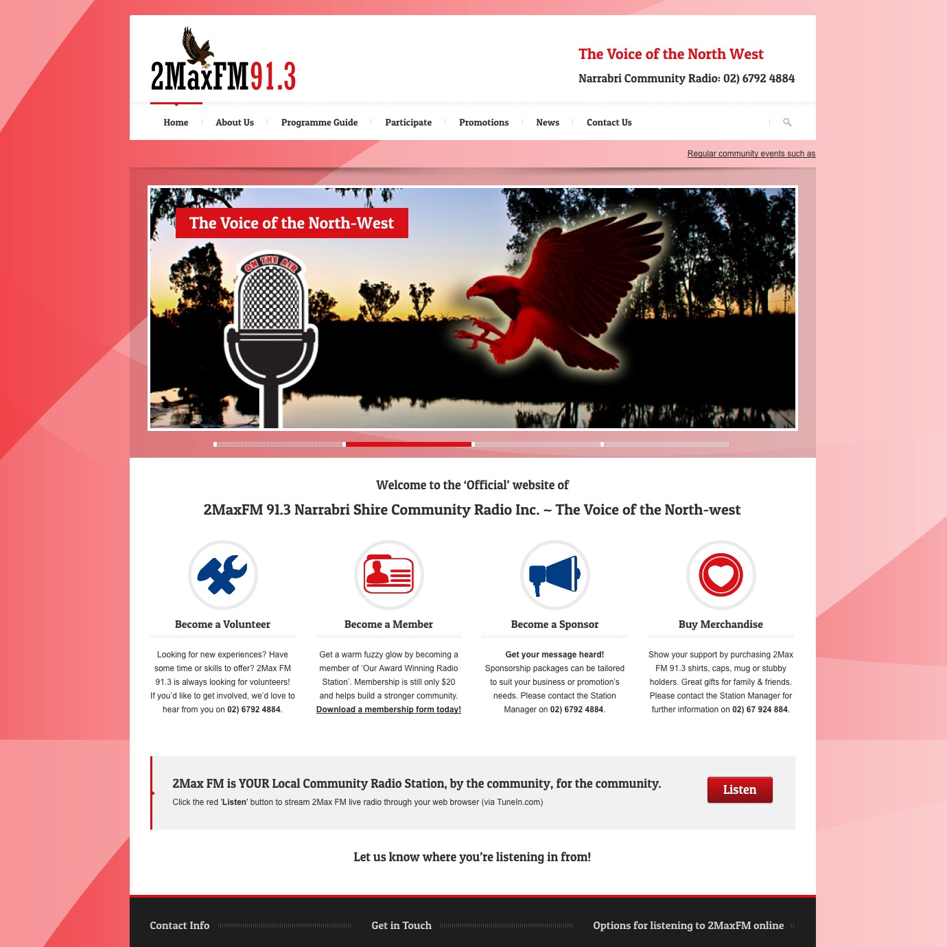 2Max FM 91.3 Narrabri Community Radio website
