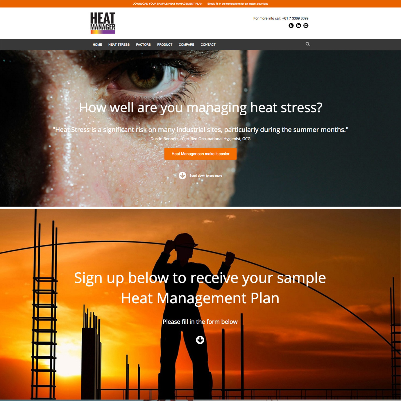 Heat Manager website