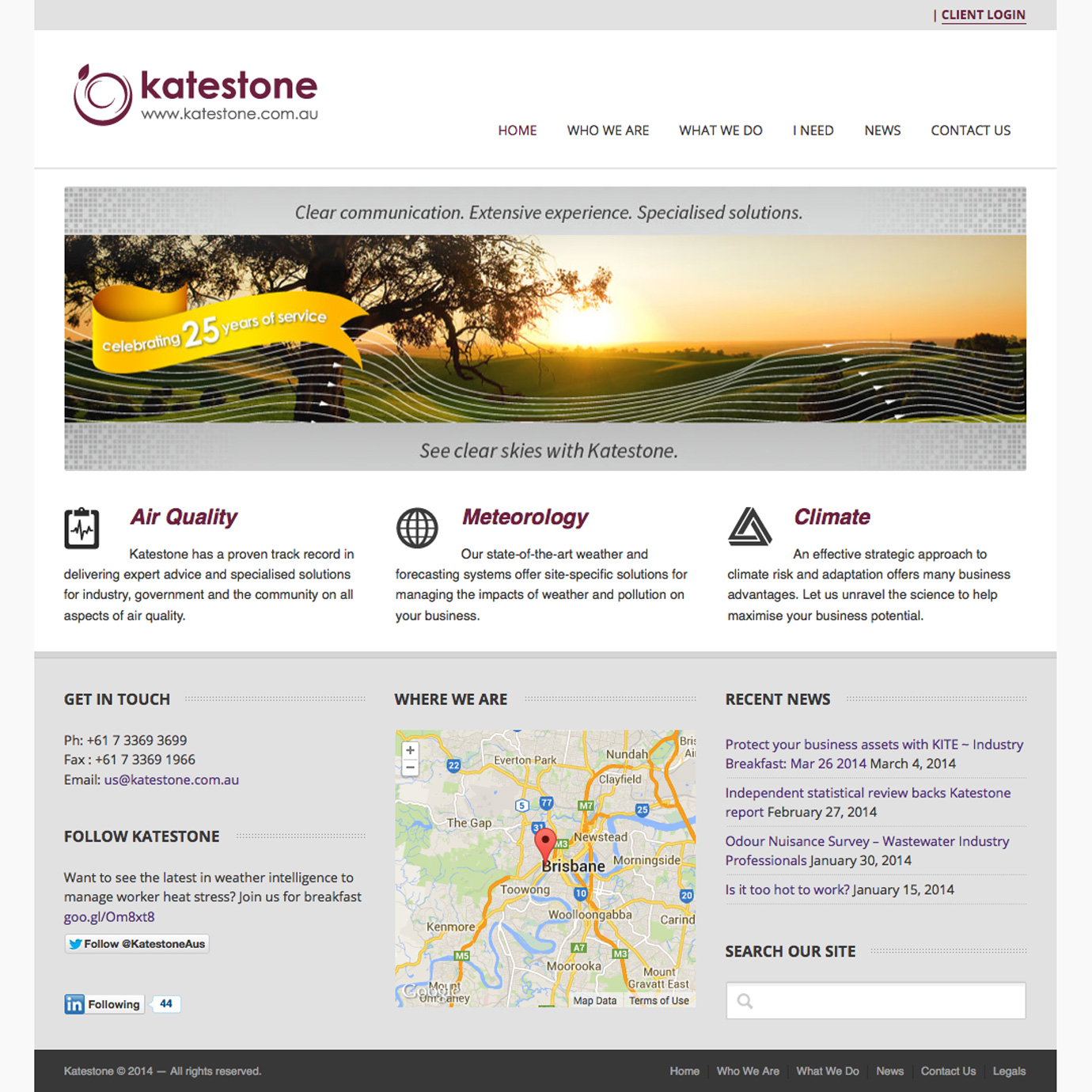 Katestone Environmental Consultants website