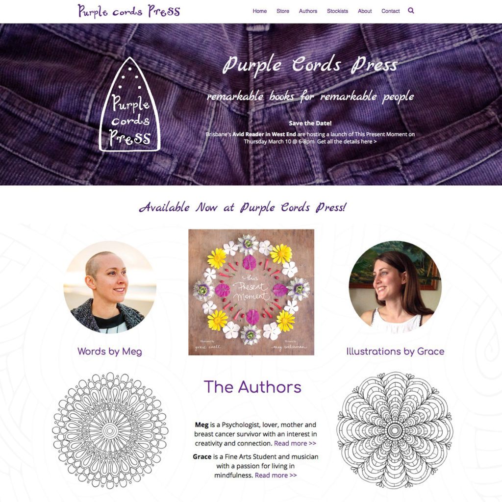 Purple Cords Press website