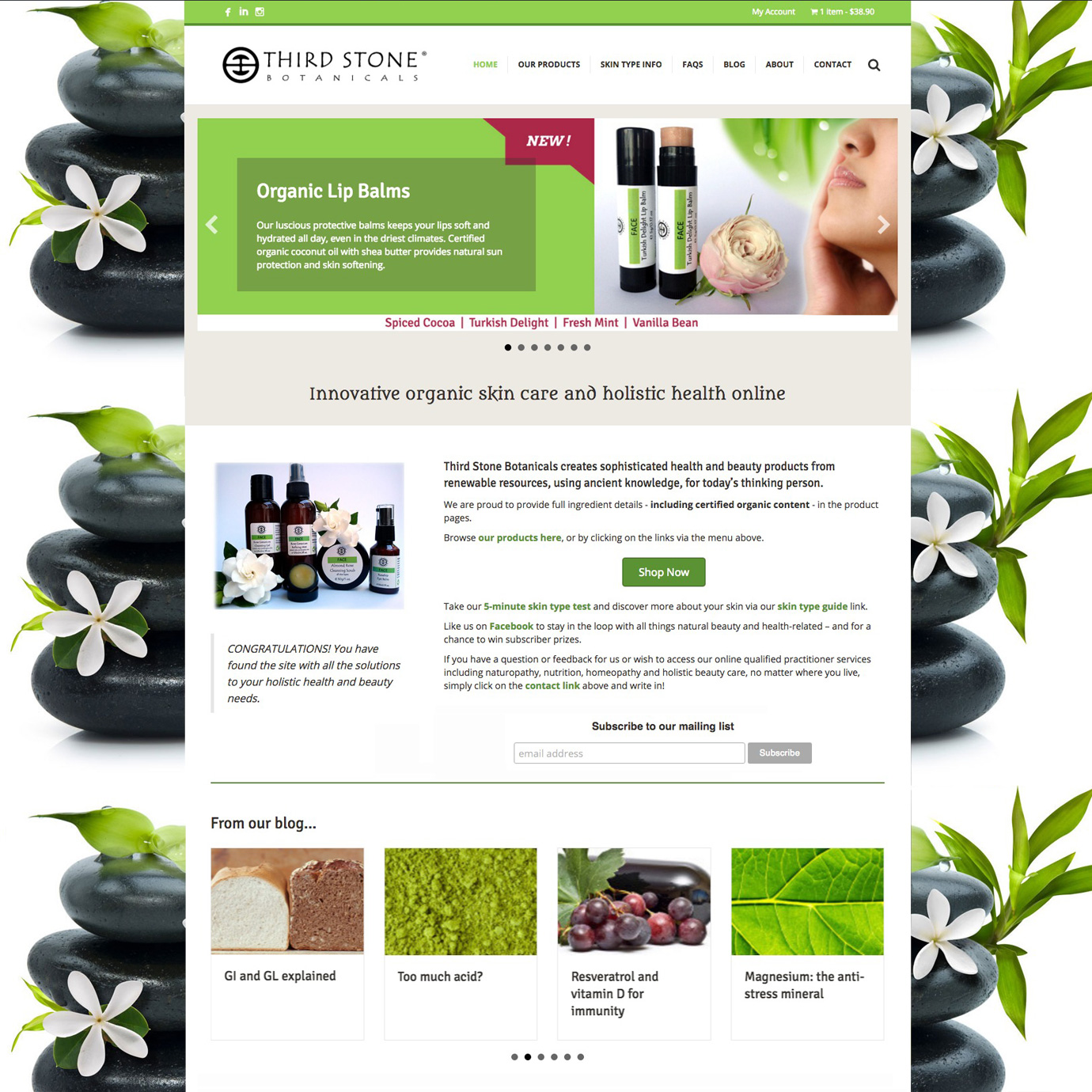 Third Stone Botanicals website